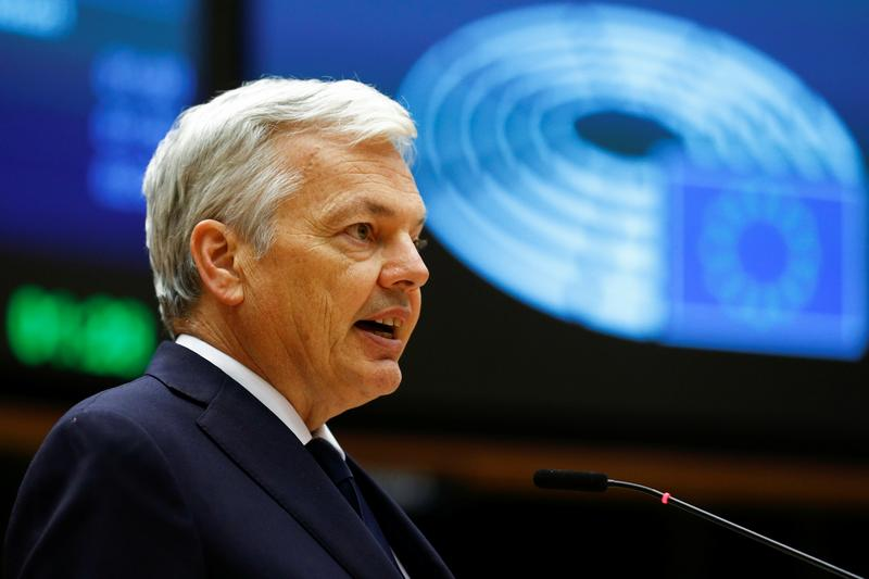 EU's Reynders: first more sanctions on Belarus, any air traffic curbs later
